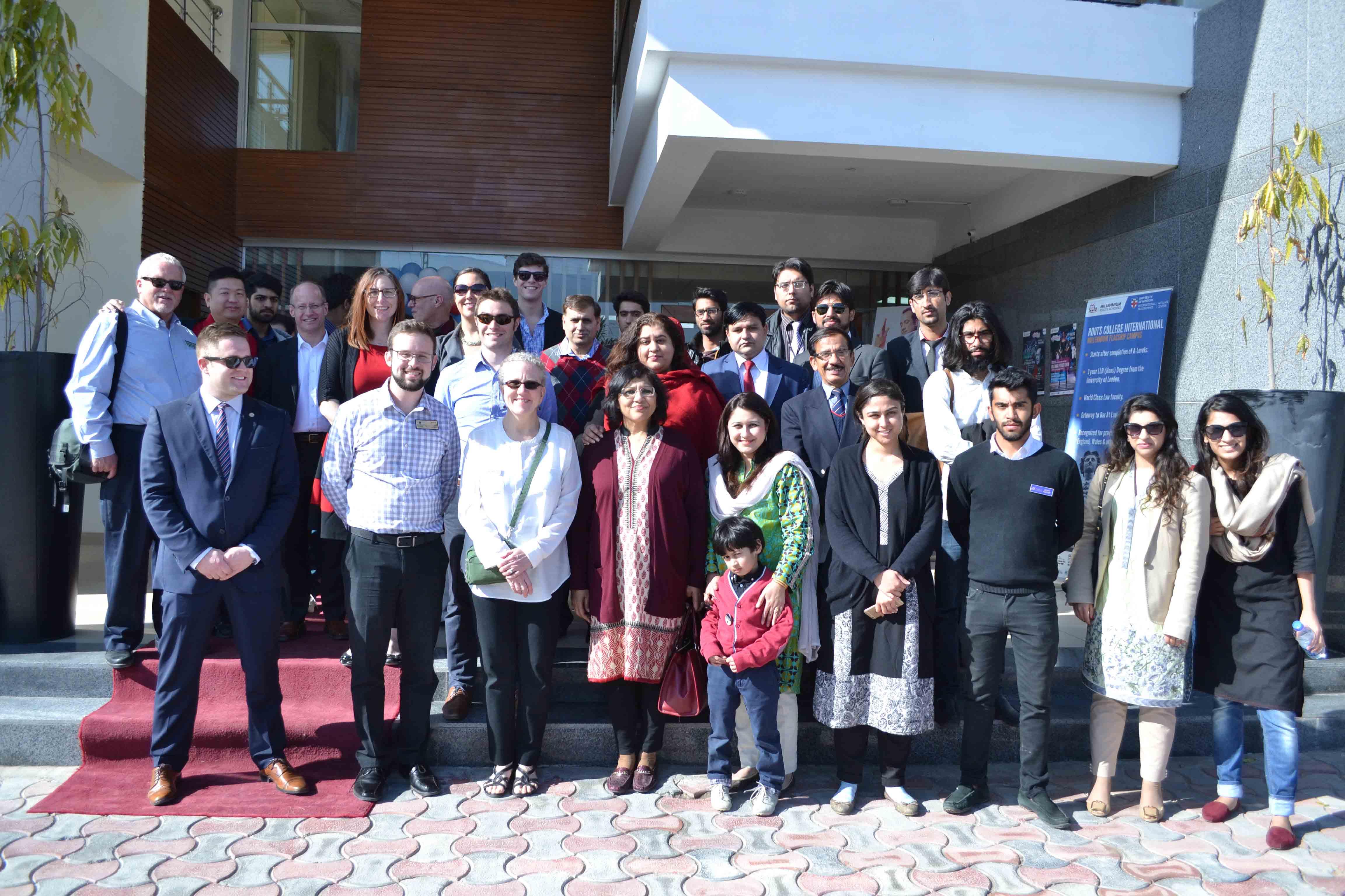 US delegation visits Millennium University College