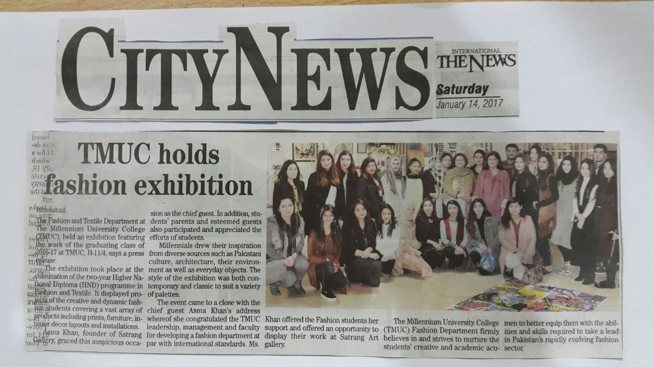 TMUC holds fashion exhibition